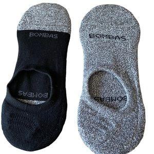 (2) BOMBAS Men's Cushioned No Show Socks